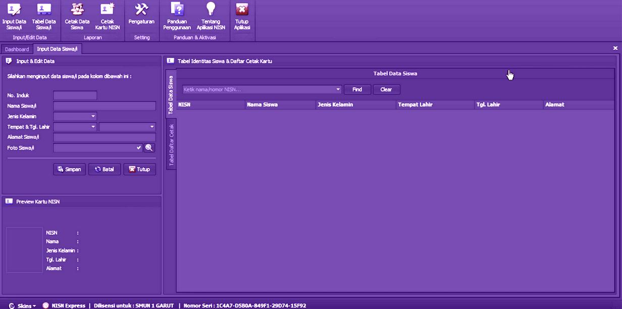 Aplikasi Cetak Kartu NISN dan Pelajar dengan Barcode Printer