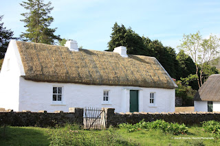 Thatched cottage with whitewashed walls Leitrim