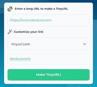 Cara Mengubah Nama Link dengan Tinyurl