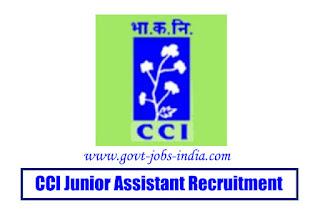 CCI Junior Assistant Recruitment