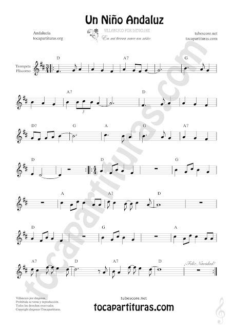 Un Niño Andaluz Sheet Music for Trumpet and Flugelhorn Music Scores