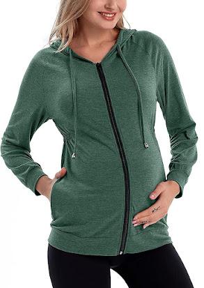 Cool Maternity Hoodie Sweatshirt Top