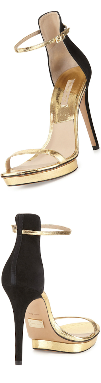 Michael Kors Doris Naked Gold Sandal