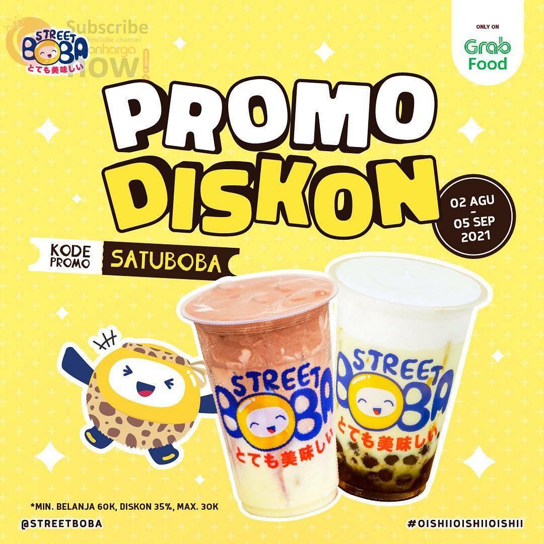 Street Boba Promo Diskon 35% via Grabfood