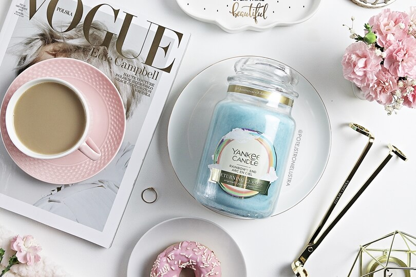 yankee candle rainbow's end recenzja blog