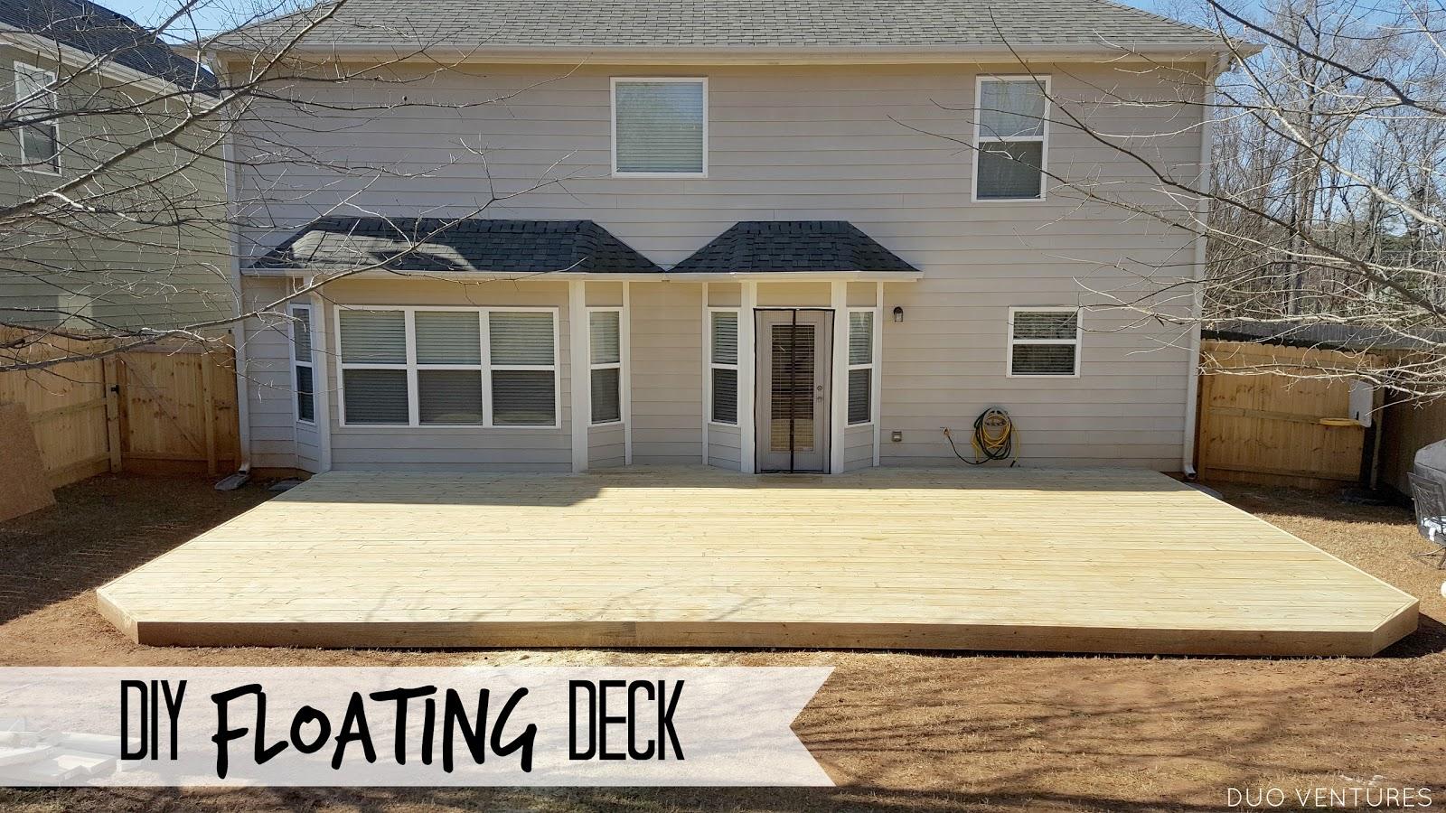 Diy Floating Ground Level Deck