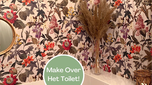 Toilet Make Over Behang op het Toilet WC