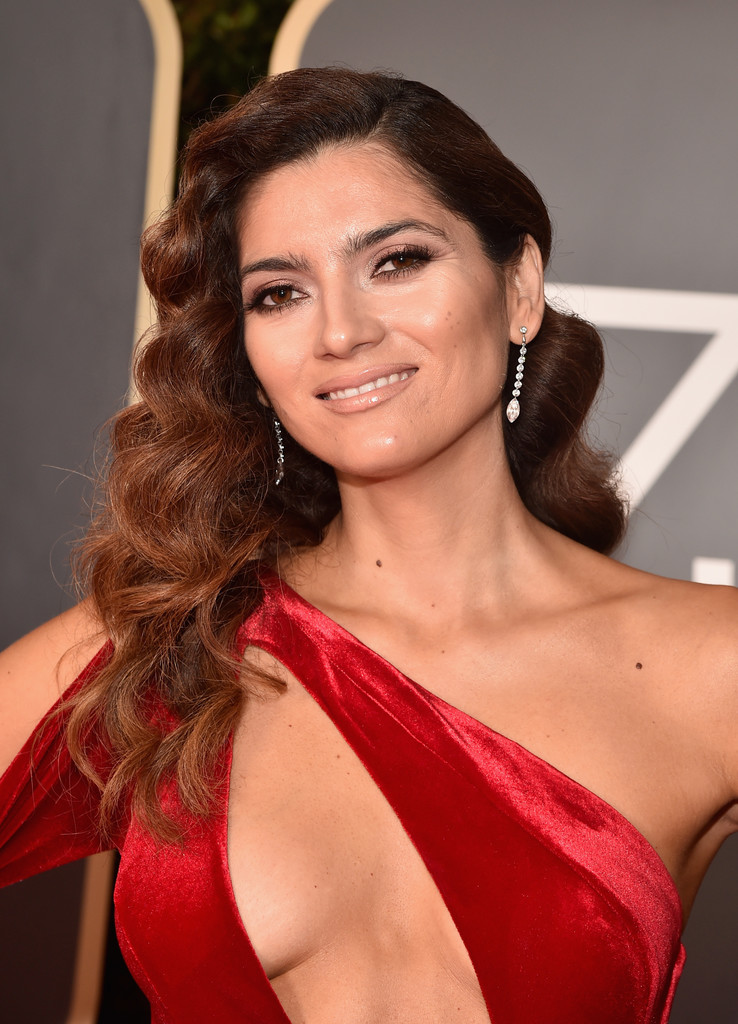 Blanca Blanco Posint at 75th Annual Golden Globe Awards