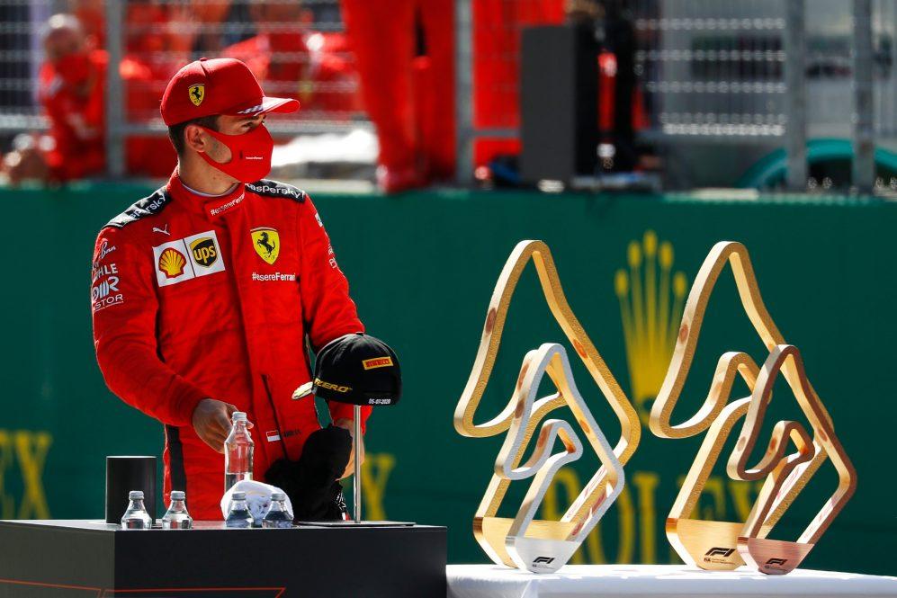 O desempenho de Leclerc contrastou fortemente com o de Vettel