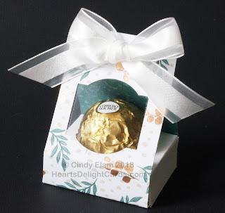 Heart's Delight Cards, Treat Holder, Ferrero Rocher Treat Box, Treat Box Tutorial