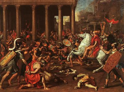 εικ. Η κατάκτηση της Ιερουσαλήμ από τον Τίτο.  πίνακας του Nicholas Poussin