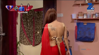 Sha Ajmani aka Garima AjmaniRed saree and Backless Choli Flower Tattoo 3 .xyz.jpg