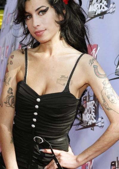 Amy Winehouse, Worst Celebrity Cleavage Tattoos