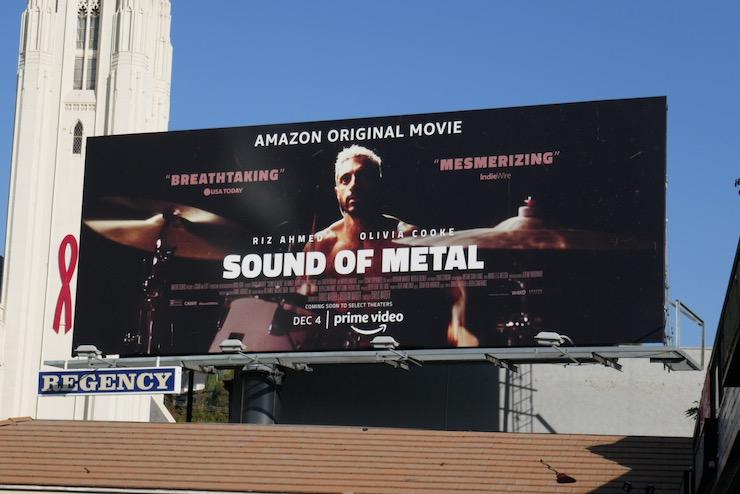 Riz Ahmed Sound of Metal movie billboard