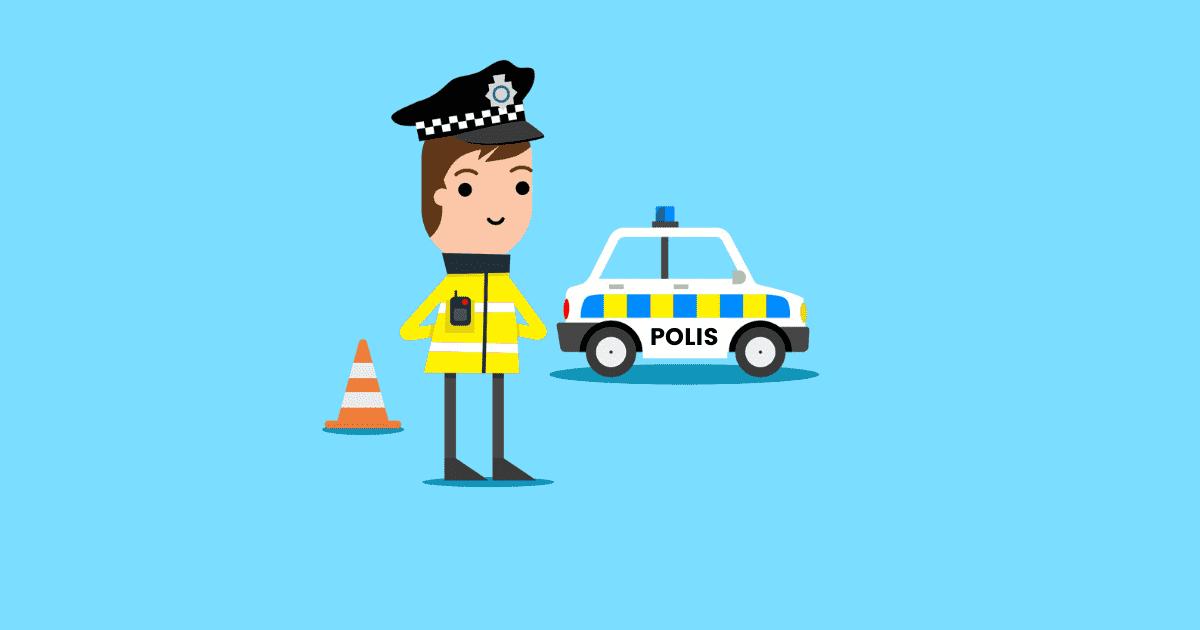 cara semak saman polis