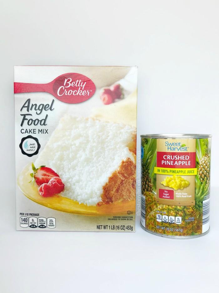 Pineapple Sponge Cake Ingredients