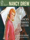Nancy's Mysterious Letter BK. 8 Carolyn Keene, photo narratorreviews.org