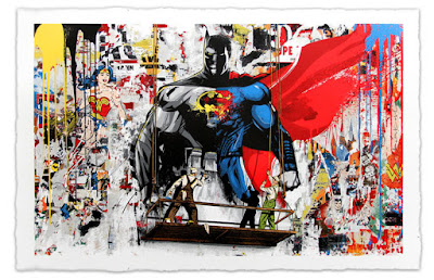 Batman v Superman: Dawn of Justice Screen Print by Mr. Brainwash