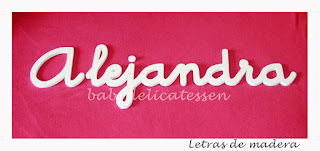 letras de madera infantiles para pared Alejandra babydelicatessen