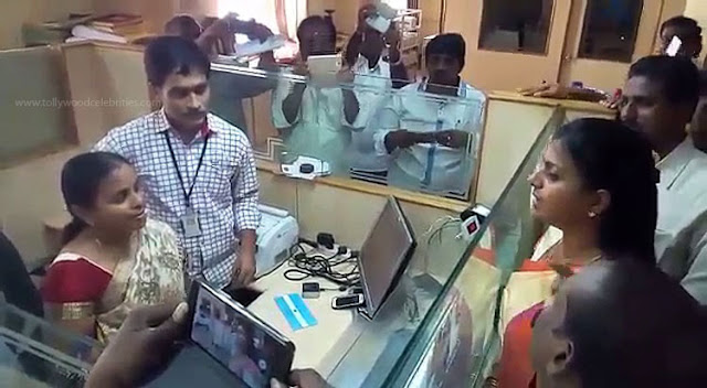 M.L.A Roja Warning To Bank Employees In Chittor