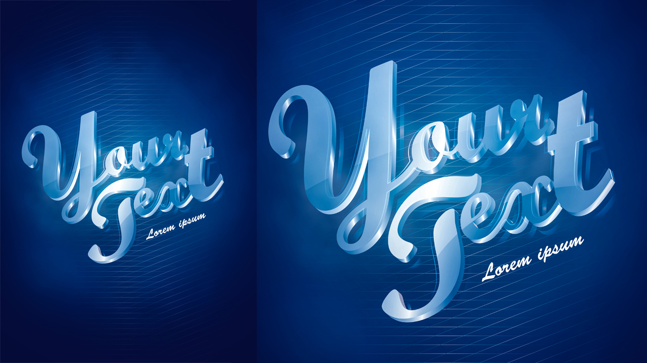 How to make 3D text with light background in Adobe