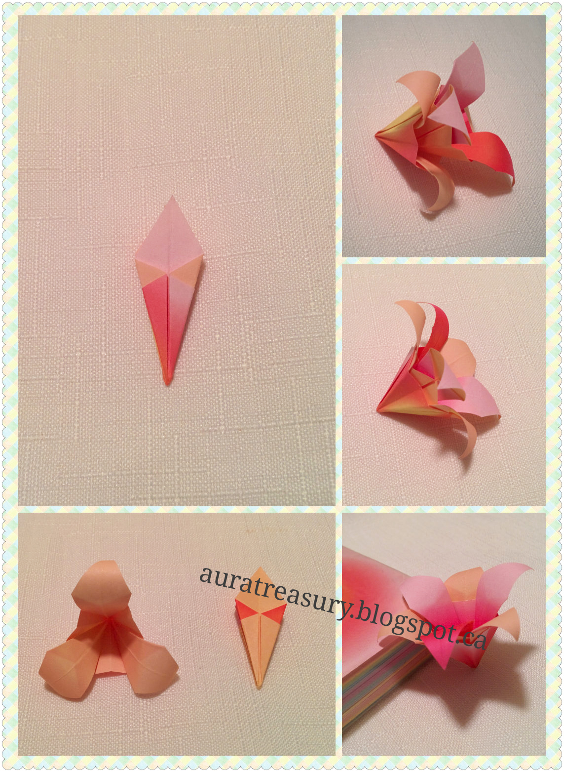 AuRa Treasury: DIY Valentine's Origami Flowers - photo#33