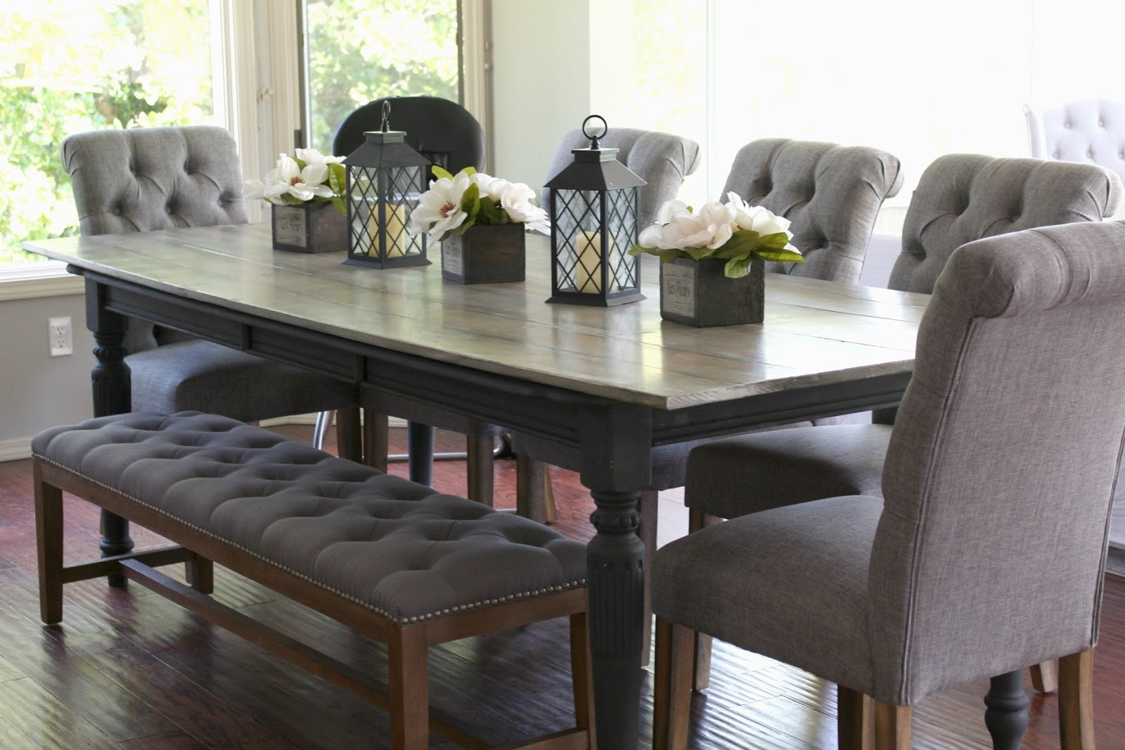 Rose & Co Blog: Our 10 person 35 dollar DIY Dining Table