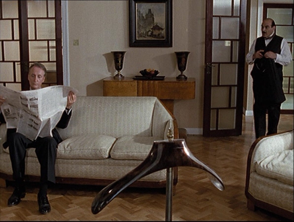 Living Room Layout 4 Chairs Windows Investigating Agatha Christie's Poirot: The Apartment On ...