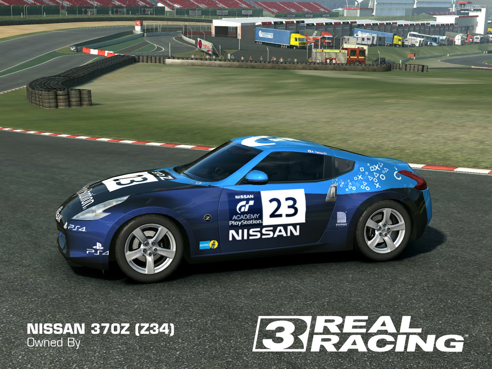 2012 nissan 370z playstation gt academy 2 blue by real racing 3 skins designs