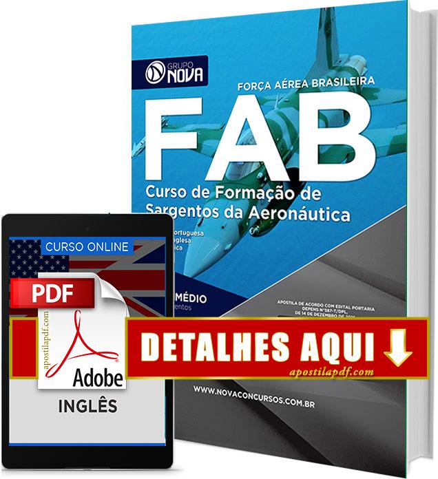 Apostila FAB 2017 Sargento da Aeronáutica PDF Download Impressa