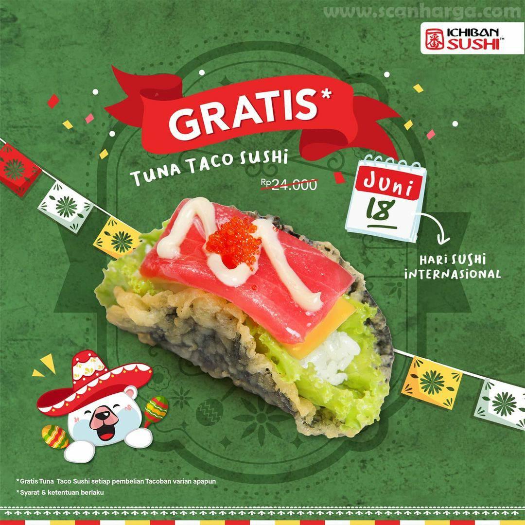 Ichiban Sushi Promo GRATIS Tuna Taco Sushi*
