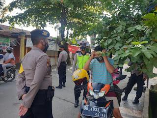 Tim Siaga Mako Polres Gowa Laksanakan Operasi Yustisi Penggunaan Masker