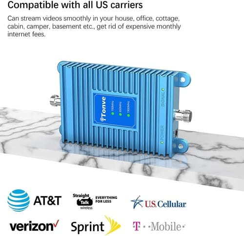 Tonve Cell Signal Booster Cell Phone Repeater