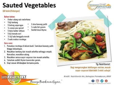 menu berbuka puasa dan sahur simple sayur goreng
