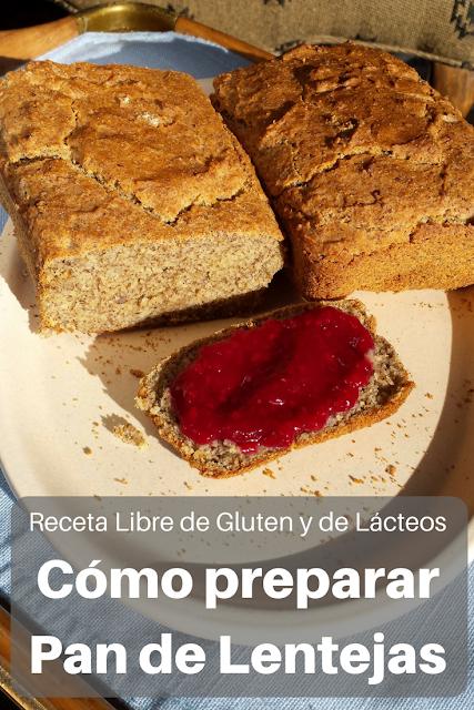 Pan de Lentejas sin gluten ni Lácteos
