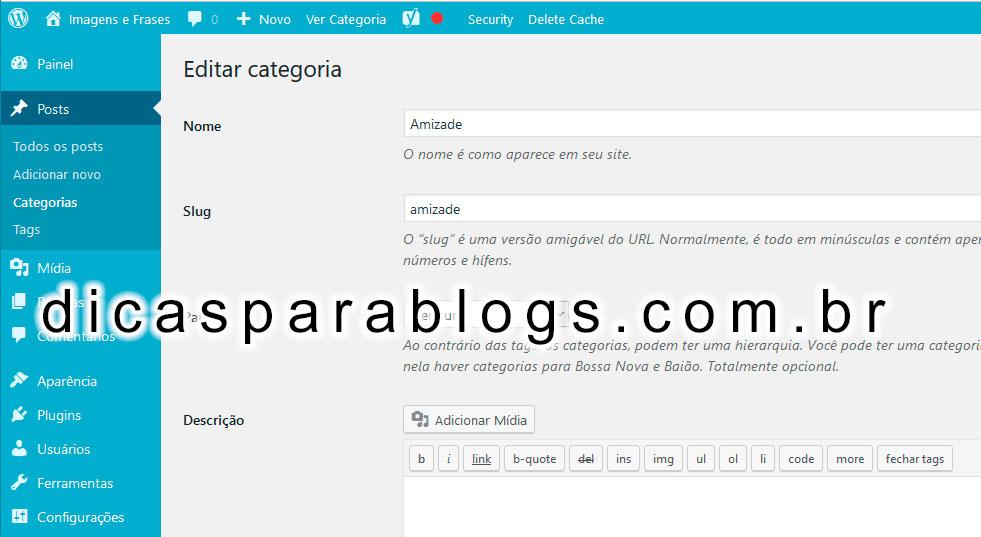 ... Imagem na Pagina de Categorias e Tags do Wordpress - Dicas para Blogs