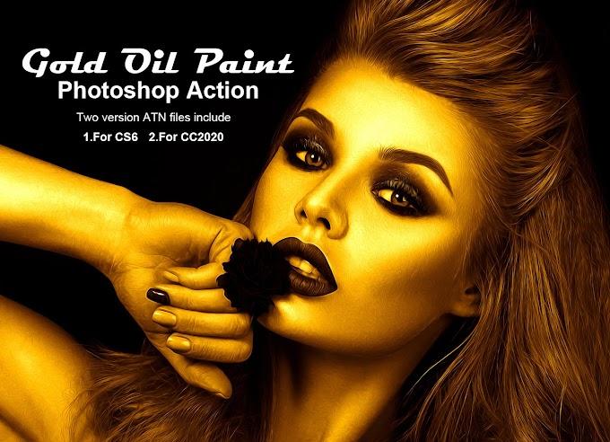 Gold Oil Paint[Photoshop][Action][5268701]