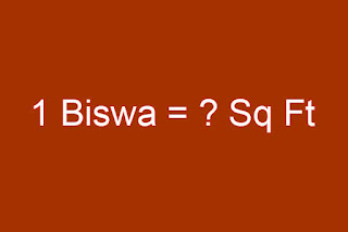 Biswa to Square Feet Converter