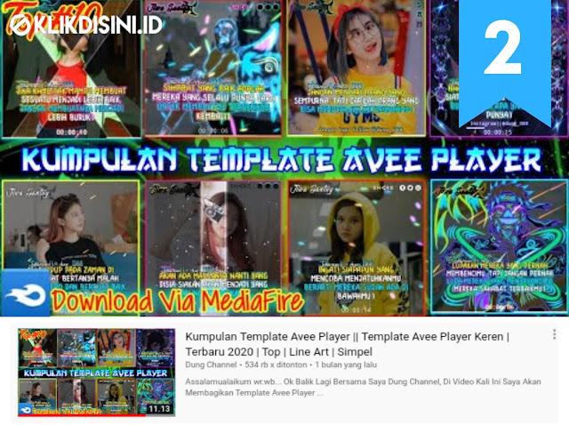 Download Template Avee Player Terbaru 2020 - TOP 50 Template Avee Player Quotes Dan Line Art