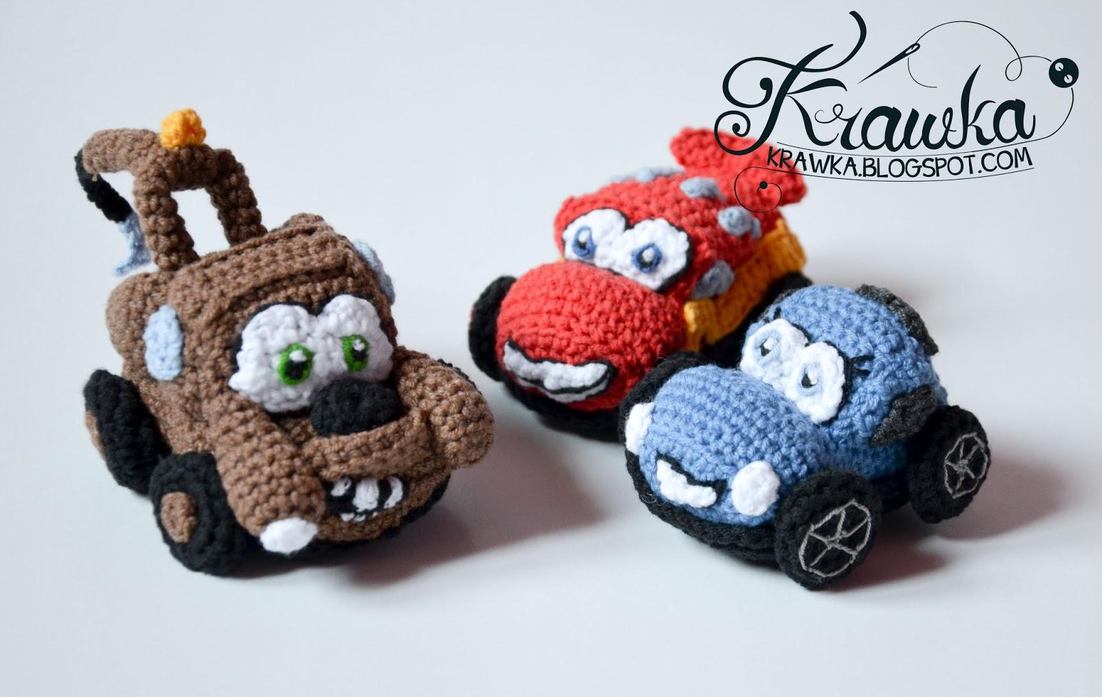 Amigurumi Patterns Cars : Krawka: cars lightning sally mater pattern