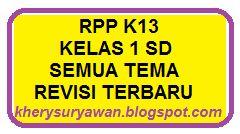 File Pendidikan RPP k13 Kelas 1 SD Lengkap Semua Tema Revisi 2019