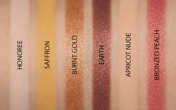 Palette fards paupières Warm EDIT Viseart Swatches