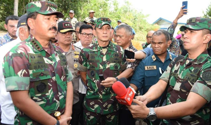 Kedatangan Panglima TNI dan Menteri PUPR di Sambut Danlantamal IV di Batam