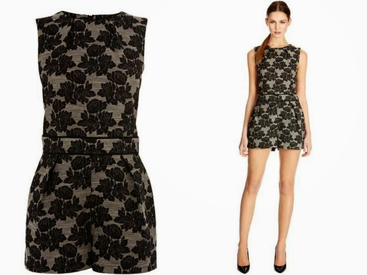 Warehouse Floral Jacquard Playsuit