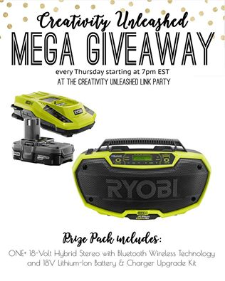 ONE+ 18-Volt Hybrid Stereo with Bluetooth Wireless Technology plus battery and charger kit Giveaway MyLove2Create