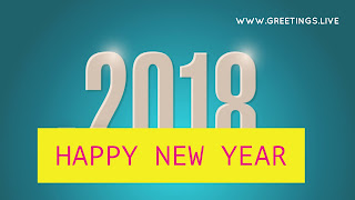 Cool class 2018 Greeting star shine effect & yellow colored Happy New Year Wishes