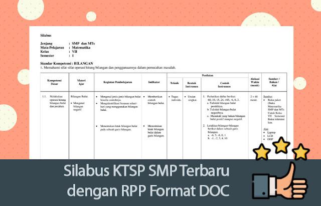 Silabus KTSP SMP Terbaru dengan RPP Format DOC