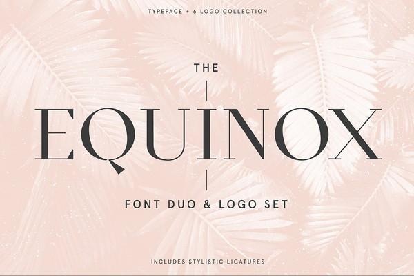 Equinox Stylish Font Duo And Logo Set