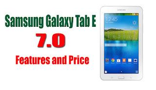 Samsung Galaxy Tab E  7 inches Price in Pakistan
