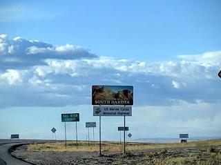 Welcome sign at the South Dakota, Nebraska border